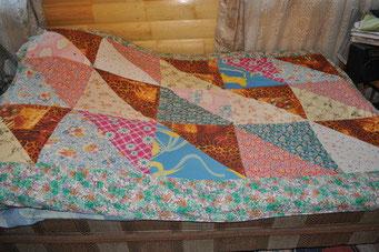 """Лоскутное взрослое одеяло """"Дачная романтика"""""""