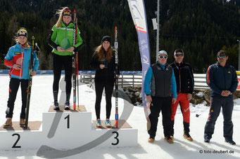v. l. Anna Gandler AUT, Amy Baserga SUI, Seraina König SUI, Ivan Lechthaler, Markus Gandler und Matthias Scherer