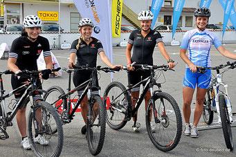 Juliane Frühwirt, Jennifer Münzner, Julia Aurich und Linda Artinger