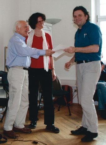 Ausbildungs-Leitung Albert Pesso, Assistenz und Übersetzung Barbara Fischer-Bartelmann, Organisation CiP München