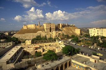 Citadelle d'Alep, Syrie. Temple de Paris