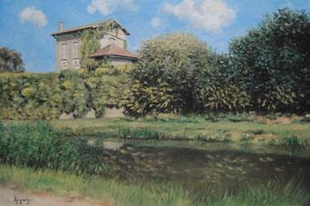 Sans titre - Untitled (huile sur toile - oil on canvas, 33 x 41 cm, 2017)