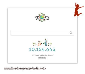 Ecosia - die alternative Suchmaschine, mit der weltweit Aufforstungsprogramme unterstützt werden
