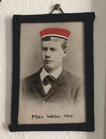 Max Weber als Burschenschafter in Heidelberg