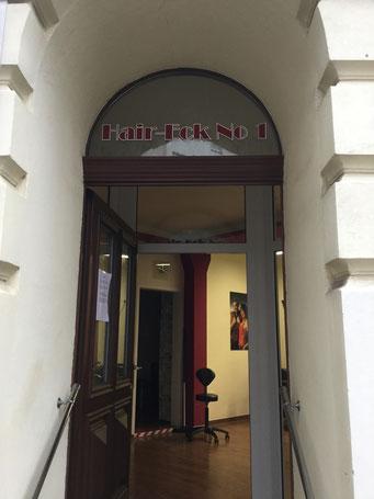 Eingangsbereich zum HairEck No.1 - Ihrem Friseur in Leipzig Reudnitz