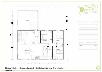 plan de cellule d'une maison en l
