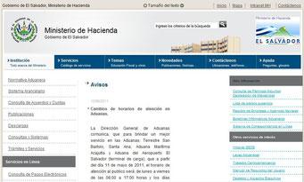 Aduana de El Salvador, legislacion, acuerdos, tratados, leyes