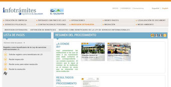 Informacion de tramites en El Salvador
