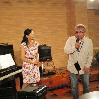 司会の三浦さんとMiyukiさんの掛け合い