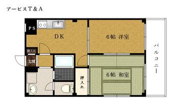 川崎区 殿町 アービスT&A 303号 間取り図