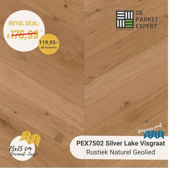 PEX7502H Silver Lake Rustiek Naturel Geolied Hongaars Punt