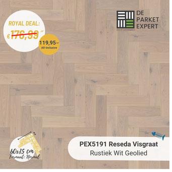 PEX5191 Reseda Rustiek Wit Geolied