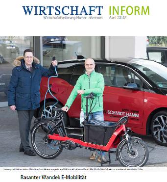 Bericht über die e-motion e-Bike Welt Hamm im Magazin der Wirtschaftsförderung Hamm
