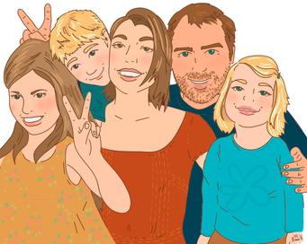 familieportret portret