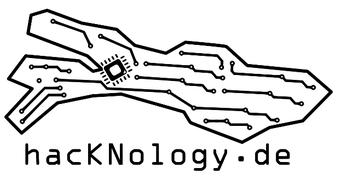 Bodensee als Elektronikplatine mit Leiterbahnen als Wellen und einem stilisierten Prozessor bei Konstanz