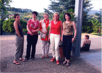 Das Kollegium: v. l. Frau Schneider-Barros, Fitzek, Windt, v. Nayhauss und Hasel