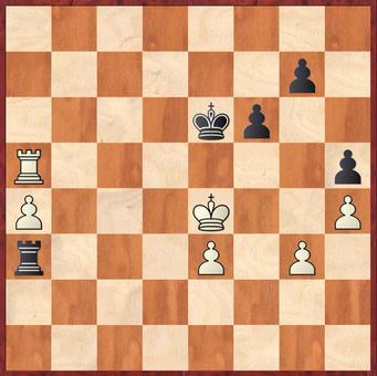 Mauelshagen - Rahimi, R: Schwarz eröffnete Weiß mit 40. ... f5? wieder Gewinnmöglichkeiten durch ein Eindringen des weißen Königs auf dem schwarzen Königsflügel