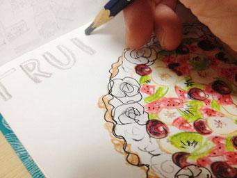 fruit tart making (2015.8)