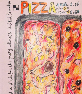【PIZZA】(2018.1.19FRI)  party at home