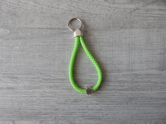 Schlüsselanhänger Segeltau grün mit Kleeblatt