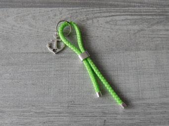 Schlüsselanhänger Segelseil 5mm grün mit Anker