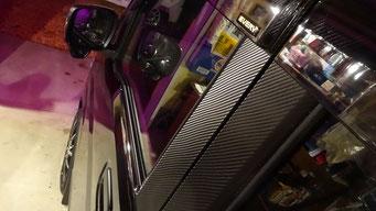 37:カーボン調ピラーステッカー