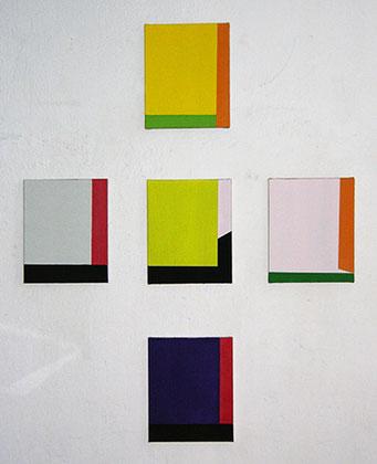 Transformation | 2015, Eitempera auf Leinwand, 5 teilig, je 39 x 31,5 cm