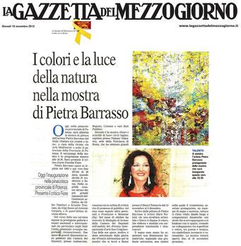 Gazzetta del Mezzogiorno 16 novembre 2012