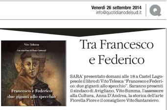 Il Quotidiano della Basilicata 26 settembre 2014