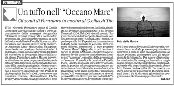 Il Quotidiano della Basilicata, 25 aprile 2013