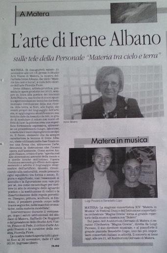 Il Quotidiano della Basilicata, 14 novembre 2015