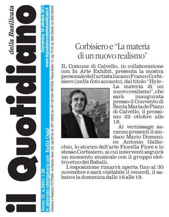 Il Quotidiano della Basilicata, 16 ottobre 2011