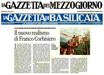 Gazzetta del Mezzogiorno 25 ottobre 2011