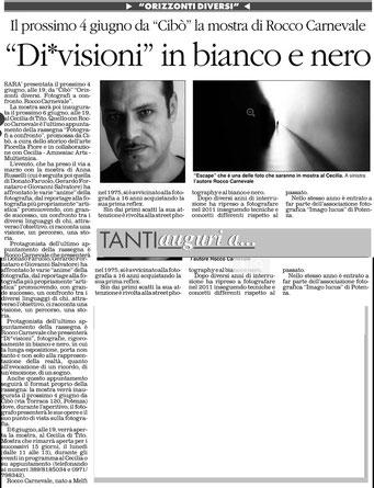 Il Quotidiano della Basilicata, 5 giugno 2013