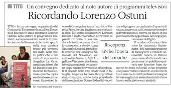 Il Quotidiano della Basilicata 25 agosto 2014