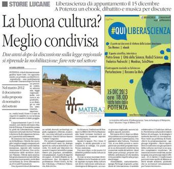 Il Quotidiano della Basilicata, 4 dicembre 2013 2013