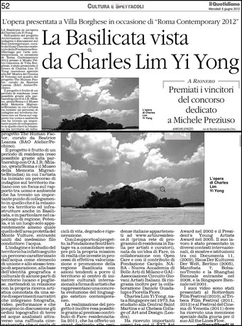 Il Quotidiano della Basilicata, 06 giugno 2012