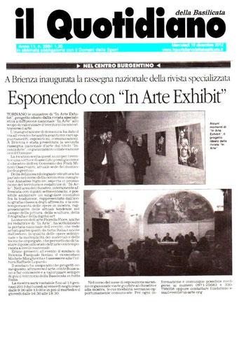 Il Quotidiano della Basilicata, 19 dicembre 2012
