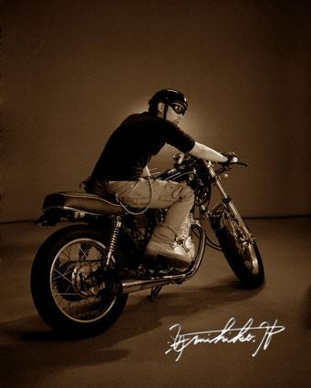 バイク 記念写真