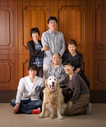 犬 家族写真
