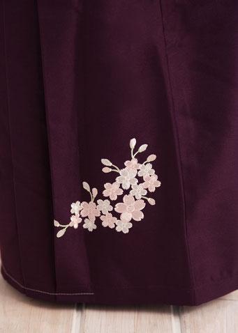 卒園 袴 刺繍
