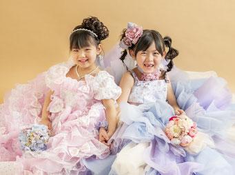 七五三 姉妹でドレス
