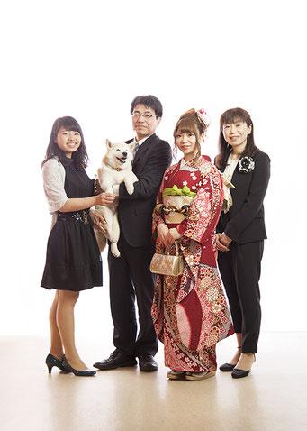犬 成人式 記念写真