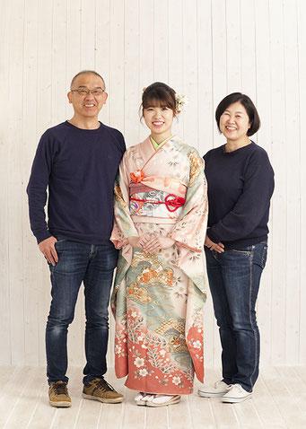 成人前撮り 家族写真