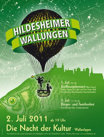 Das Plakat der 2. Wallungen 2011. Gestaltung: Gero Schulze