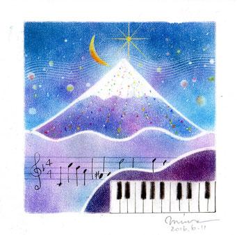パステル和アート、星に願いを♪冬空のサザンクロス ヒーリングハーツ熊本