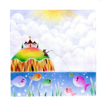 島守の祈り 魚釣り島 パステル和アート ヒーリングハーツ熊本 スカイプ ズーム ZOOM
