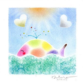 虹のくじら パステル和アート ヒーリングハーツ熊本