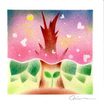 パステル和アート、人生の桜、宿命・運命・天命・使命