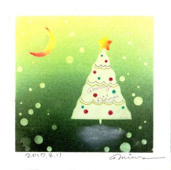 クリスマスツリー パステル和アート ヒーリングハーツ熊本
